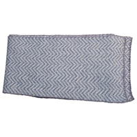 Image for Herringbone Merino Wool Scarf, Blue