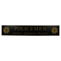 "Image for 30"" Policemen Celtic Knot Wooden Carved Wallboard, Black"
