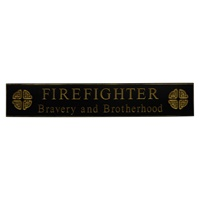 "Image for 30"" Firefighter Celtic Knot Wooden Carved Wallboard, Black"