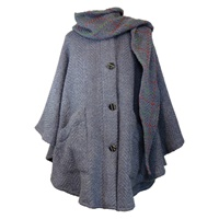 Branigan Weavers Tina Cape Denim