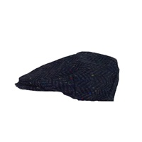 Image for Hanna Vintage Tweed Cap: Blue Herringbone