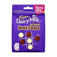 Image for Cadbury Dairy Milk Mixed Buttons Resealable Pouch 112g