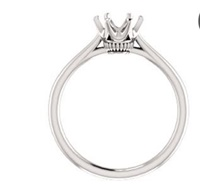 Image for 14K White Gold Setting Ever & Ever 6 Prong Solitaire Ring 1CT Center (6.5mm)