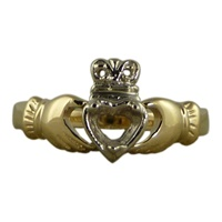 Image for 14K Two-Tone Gold Claddagh Ring - Mount only