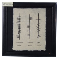 "Image for Ogham Wish ""Faith, Hope, Love"""