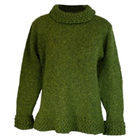 Image for Ladies Berry Sweater by Rossan Knitwear - Lime