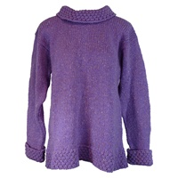 Image for Ladies Berry Sweater by Rossan Knitwear - Healy Purple