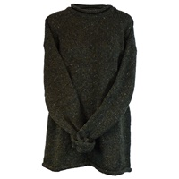 Image for Roll Neck Irish Sweater by Rossan Knitwear - Sage Green