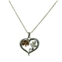 Image for Fairy Shamrock Heart Pendant