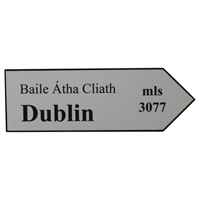 Image for Road Sign Large Plaque, Dublin