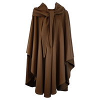 Image for Jimmy Hourihan Irish Cape in Camel and Black Check with Toggle Fastening