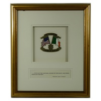 Image for Our Two Nations Two Flags Brushed Gold Frame