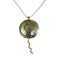 Image for Shanley Spiral Two Tone Pendant