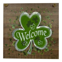 "Image for 13.5"" Metal Shamrock Wall Sign"