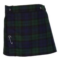 Image for Girls Black Watch Tartan Skirt, Size 4
