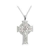 "Image for Sterling Silver Large Apostles Cross Pendant on 20"" Belecher Chain"