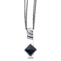 Image for Silver Soltice Pendant Set With Hemitite