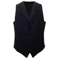 Image for John Hanly Irish Tweed Waistcoat | Irish Vest, Black