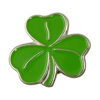 Image for Green Shamrock Enamel Lapel Pin