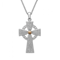 Image for Silver and Rose Gold Plated Bead Large Celtic Warrior Cross