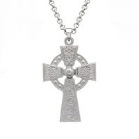 Image for Sterling Silver Large Celtic Warrior Cross