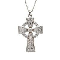 Image for Celtic Warrior Cross Sterling Silver Medium