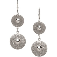 Image for Double with Domed Centre Celtic Warrior Earrings