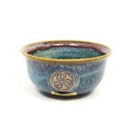 Image for Colm De Ris Irish Pottery Cereal Bowl Blue