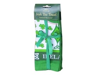 Image for Scattered Shamrocks Irish Tea Towel