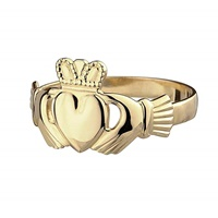 Image for Irish Claddagh Ring 14K Yellow Gold