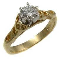Image for 14k Yellow Gold Diamond Celtic Diamond Ring