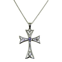 Image for Contemporary Celtic Cross with Amethyst