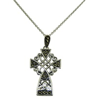 Image for Sterling Silver Marcasite Celtic Cross