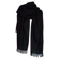 Image for Irish Celtic Motif Stole by Jimmy Hourihan, Very Black