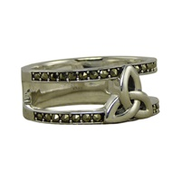 Image for Marcasite Trinity Cage Ring