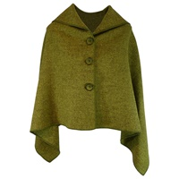 Image for Versatile 3-in-1 Cape Kerry Green with Buttons