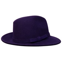 Image for Shevlin Purple Wool Mix Deep Crown Trilby, Self Trim