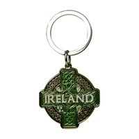 Image for Keyring Round Celtic Cross