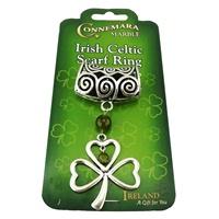 Image for Irish Celtic Scarf Ring - Shamrock