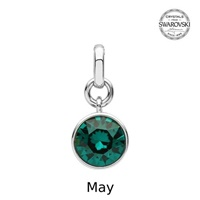 Image for Sterling Silver Swarovski Charm, May
