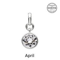 Image for Sterling Silver Swarovski Charm, April