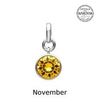 Image for Sterling Silver Swarovski Charm, November