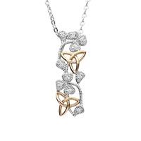 Image for Shamrock and Trinity Knot Pendant