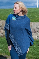 Image for Irish Linen and Silk Wallace Shawl, Denim
