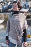 Image for Irish Linen and Silk Wallace Shawl, Oat