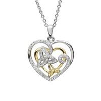 Image for Sterling Silver Swarovski Trinity Heart Pendant