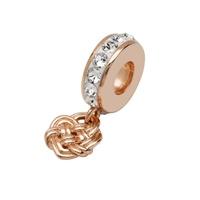Image for Sterling Silver TD Rose Gold Celtic Bead with Swarovski Crystal