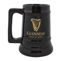 Image for Black Ceramic Guinness Harp Beer Tankard