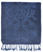 Image for Patrick Francis Saxon Blue Wool Scarf