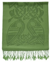 Patrick Francis Forest Green Wool Scarf